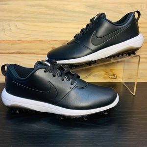 New Nike Roshe Tour Leather Golf Shoes Black White